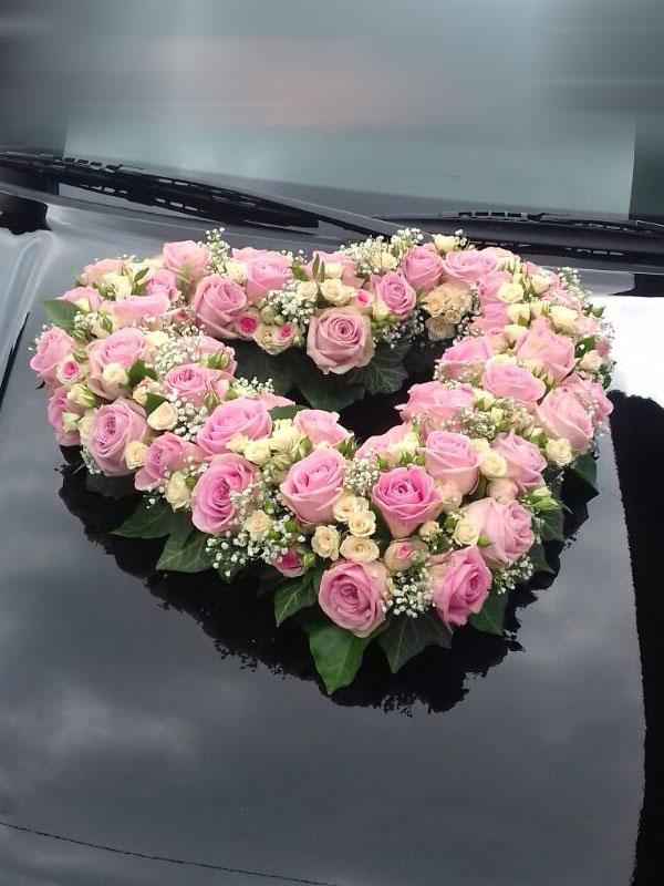 Autodekoration Hochzeit 01