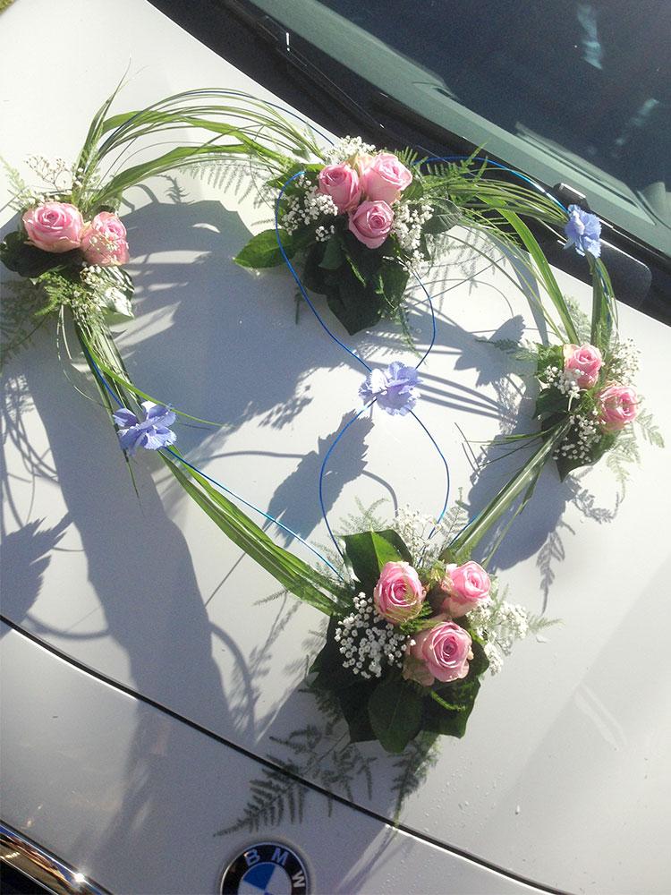 Autodekoration Hochzeit 05