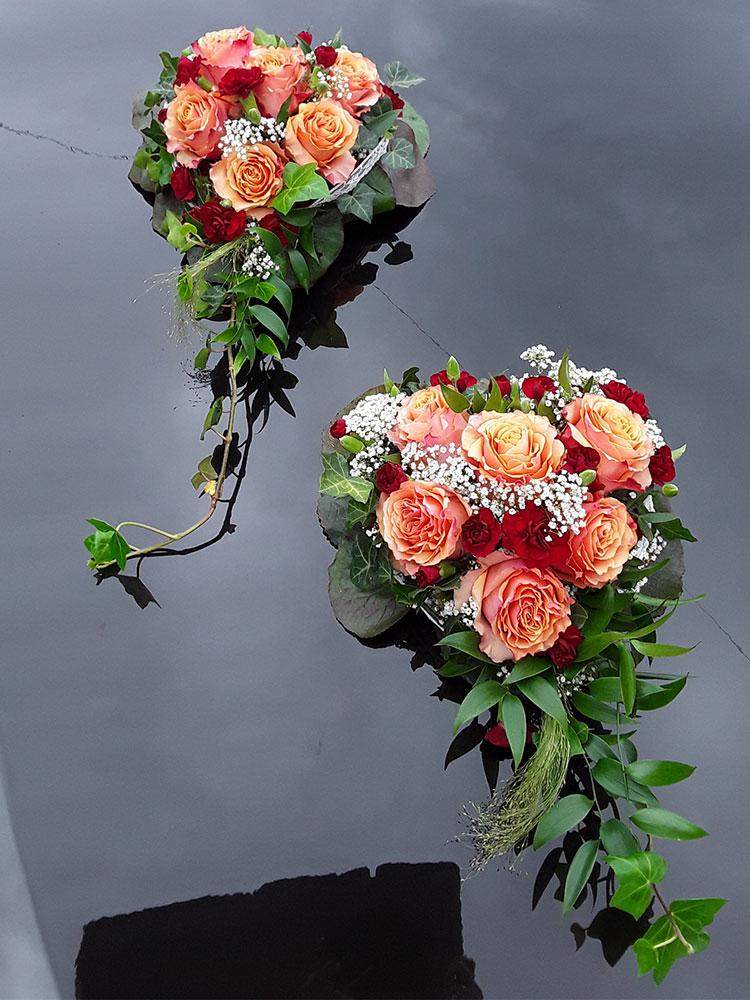 Autodekoration Hochzeit 09